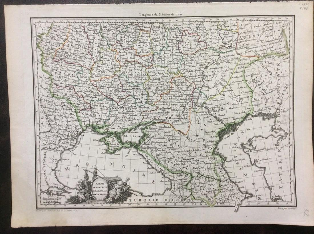 Malte-Brun: Antique Map of Southern Russia, 1810