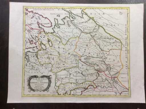 Martier Antique Map Of Samatia Or Ancient Russia 1705