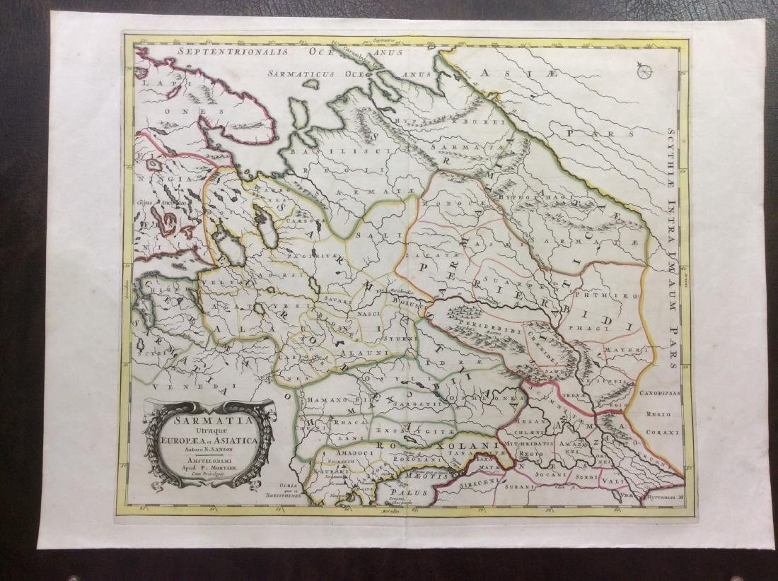 Martier: Antique Map of Samatia or Ancient Russia, 1705