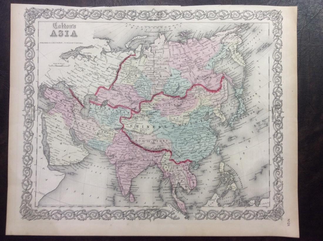 Colton: Antique Map of Asia, 1861