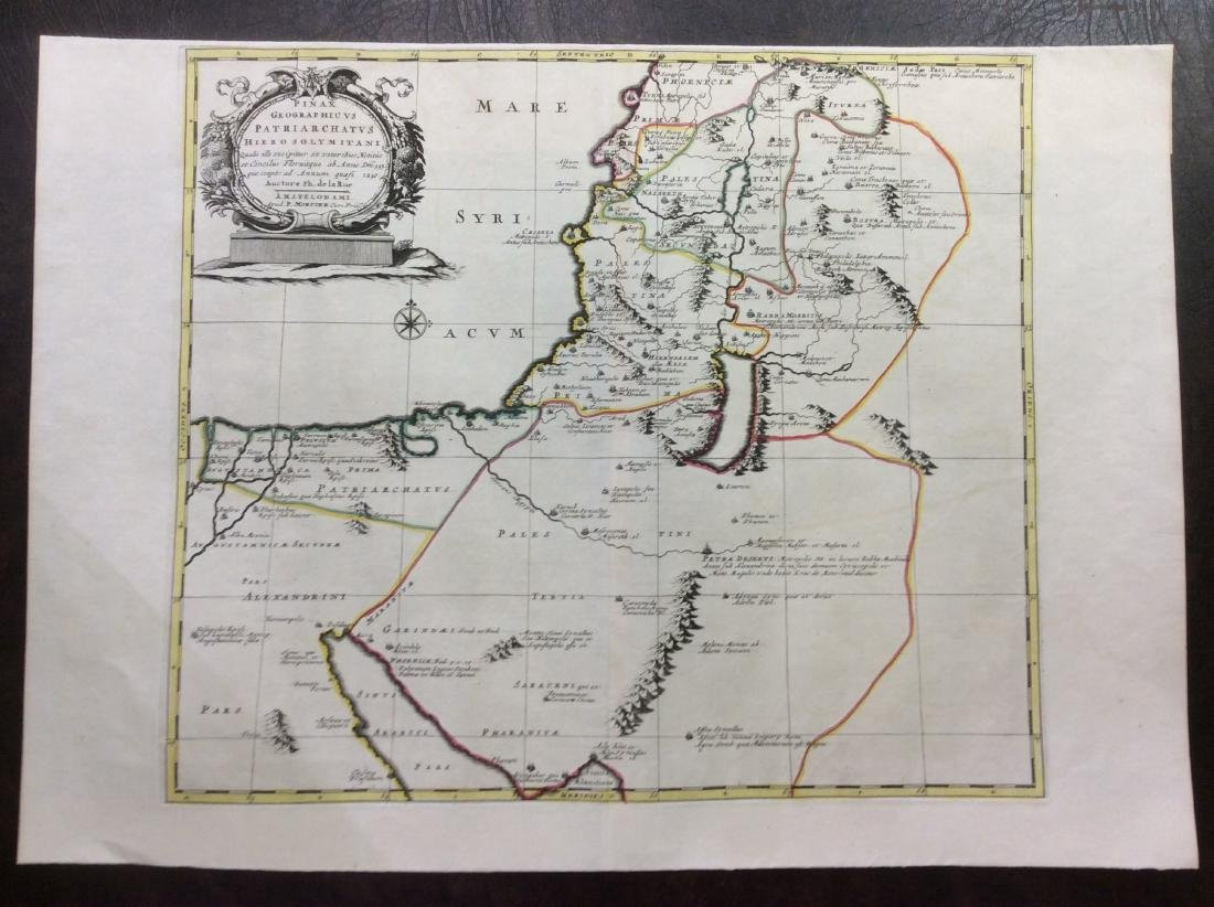 Martier: Antique Map of Holy Land Divisions, 1705