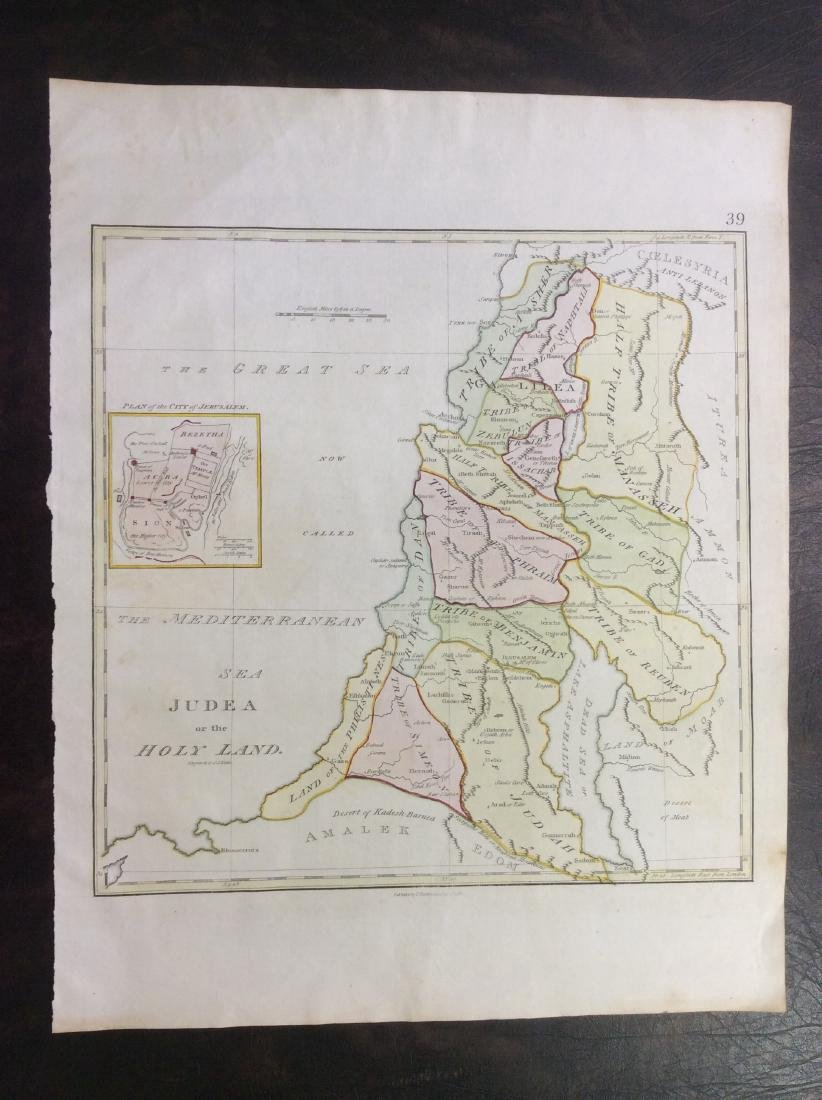 Stackhouse: Antique Map of Judaea / Holy Land, 1783