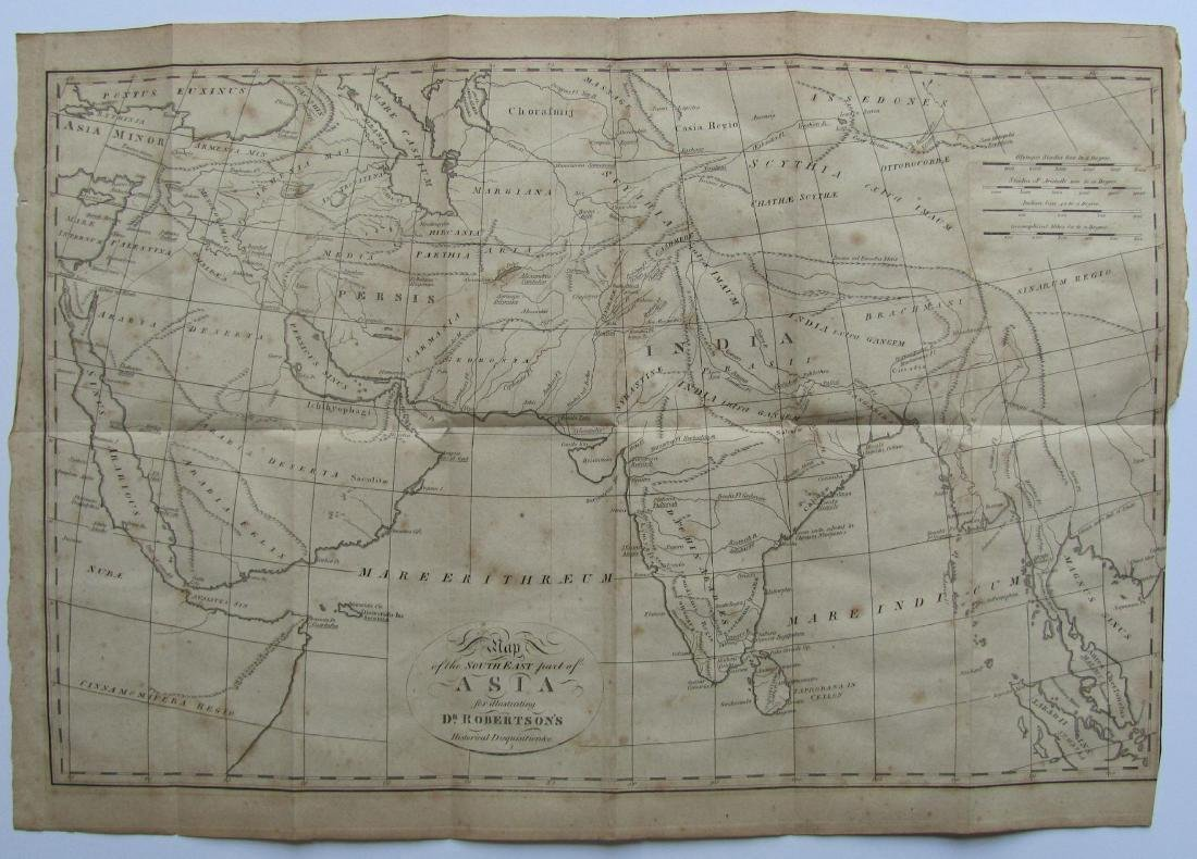 Antique Map of India, 1812