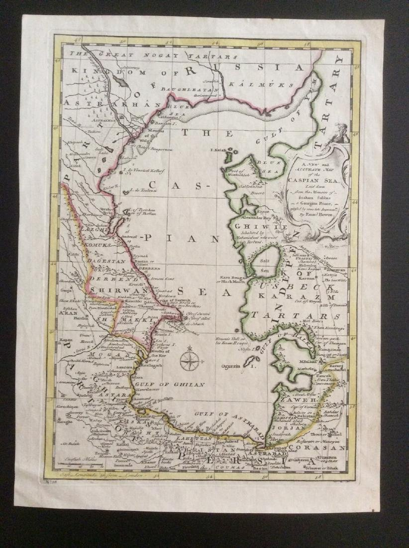 Bowen: Antique Map of Caspian Sea Reserve, 1747