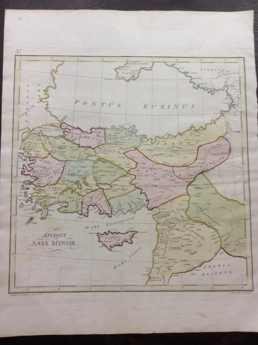 Stackhouse: Antique Map of Ancient Asia Minor, 1783