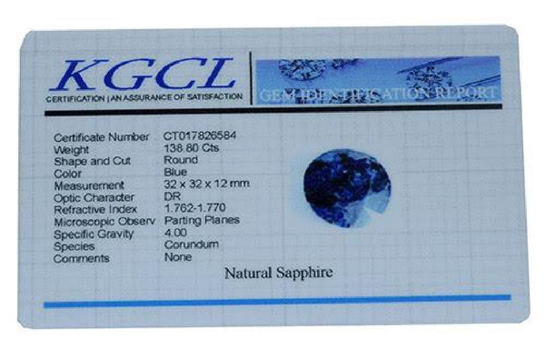 138.80 Carat Loose Sapphire, KGCL Cert - 2