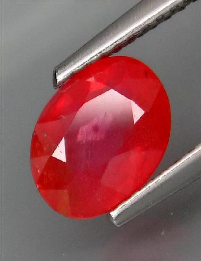 1.62 Carat Loose Red Sapphire