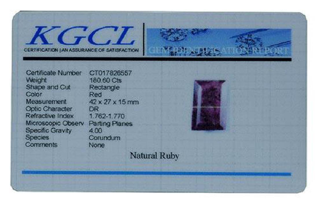 180.60 Carat Loose Ruby, KGCL Cert - 2