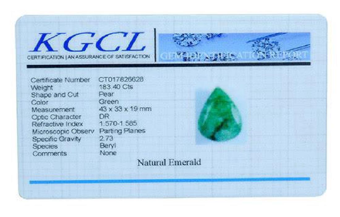 183.40 Carat Loose Emerald, KGCL Cert - 2