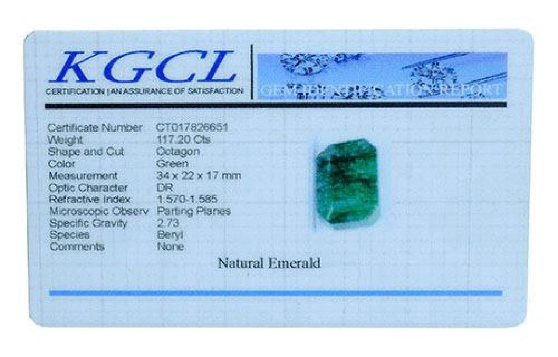 117.20 Carat Loose Emerald, KGCL Cert - 2