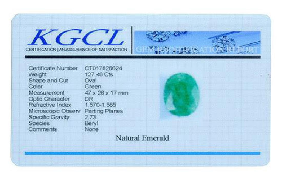 127.40 Carat Loose Emerald, KGCL Cert - 2