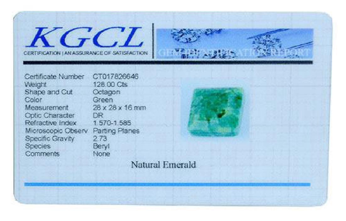 128.00 Carat Loose Emerald, KGCL Cert - 2