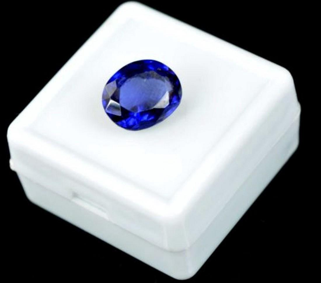 6.05 Carat Certified Loose Blue Sapphire