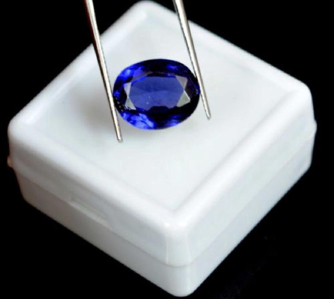 6.05 Carat Certified Loose Blue Sapphire - 4