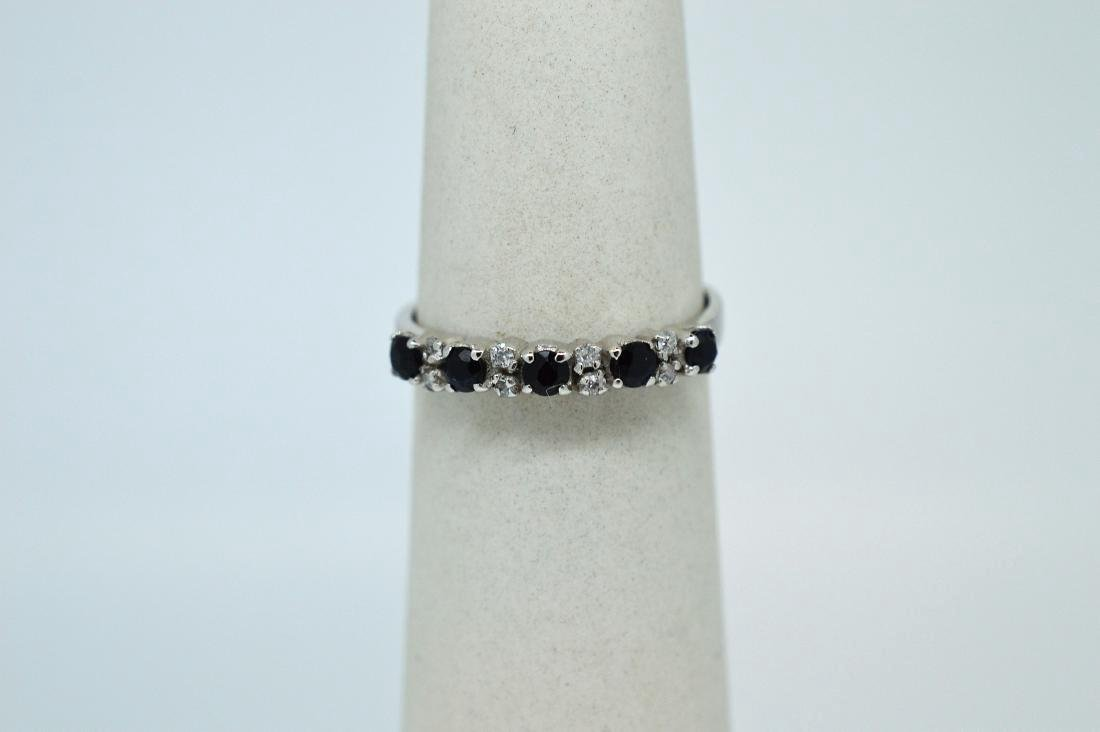 Ladies Sterling Silver Indian Sapphire Ring