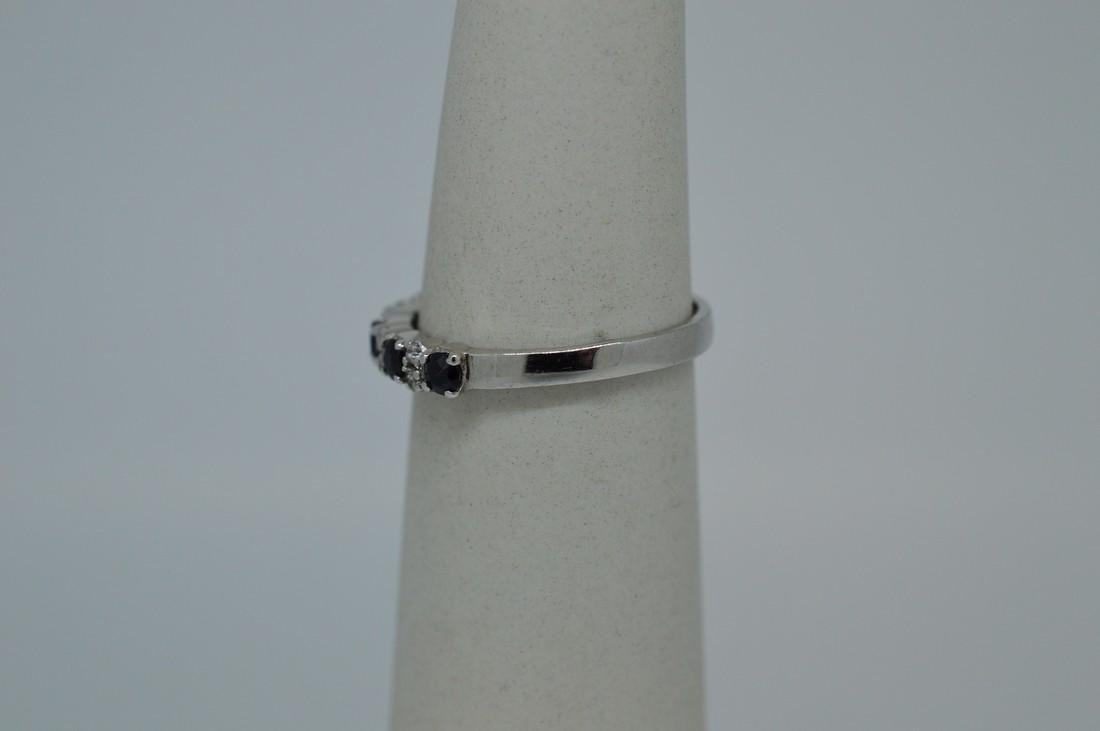 Ladies Sterling Silver Indian Sapphire Ring - 3