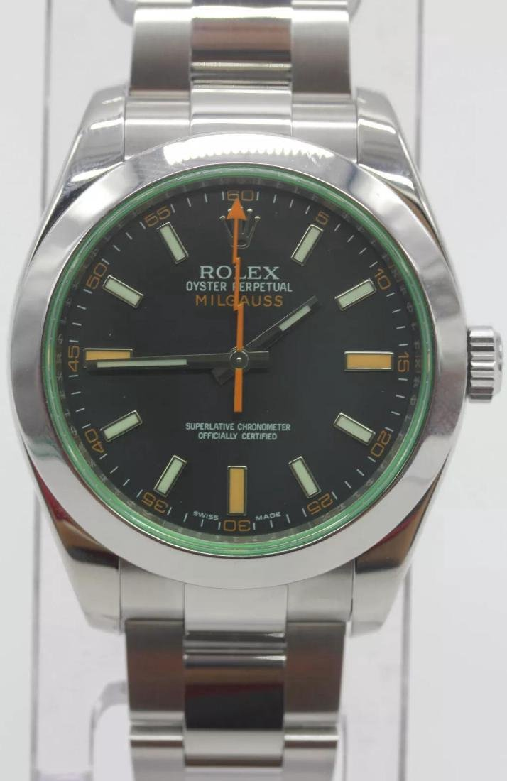 Rolex Oyster Perpetual Milgauss Men's Wristwatch