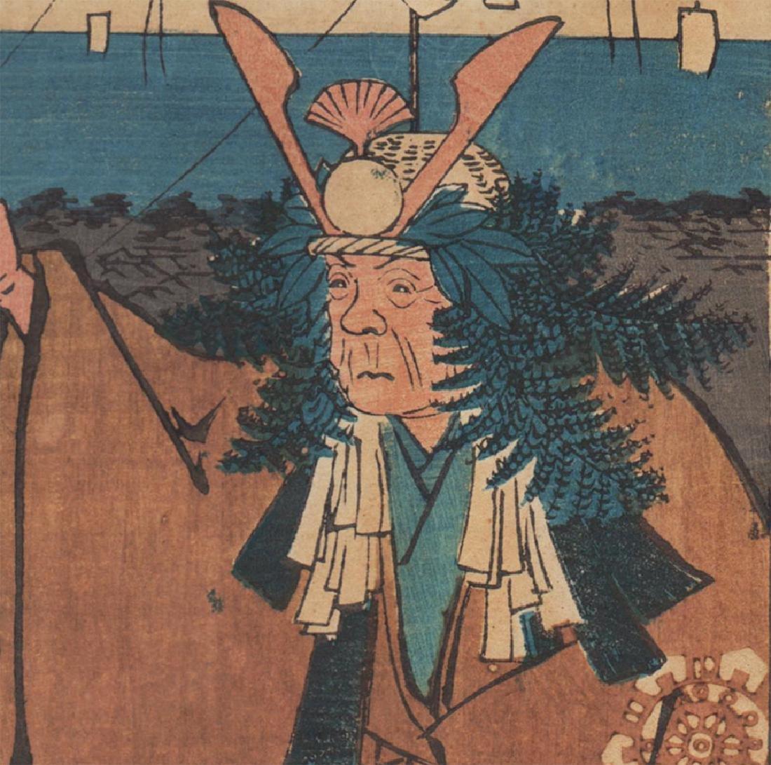 Ando Hiroshige Woodblock Mount Atago - 2