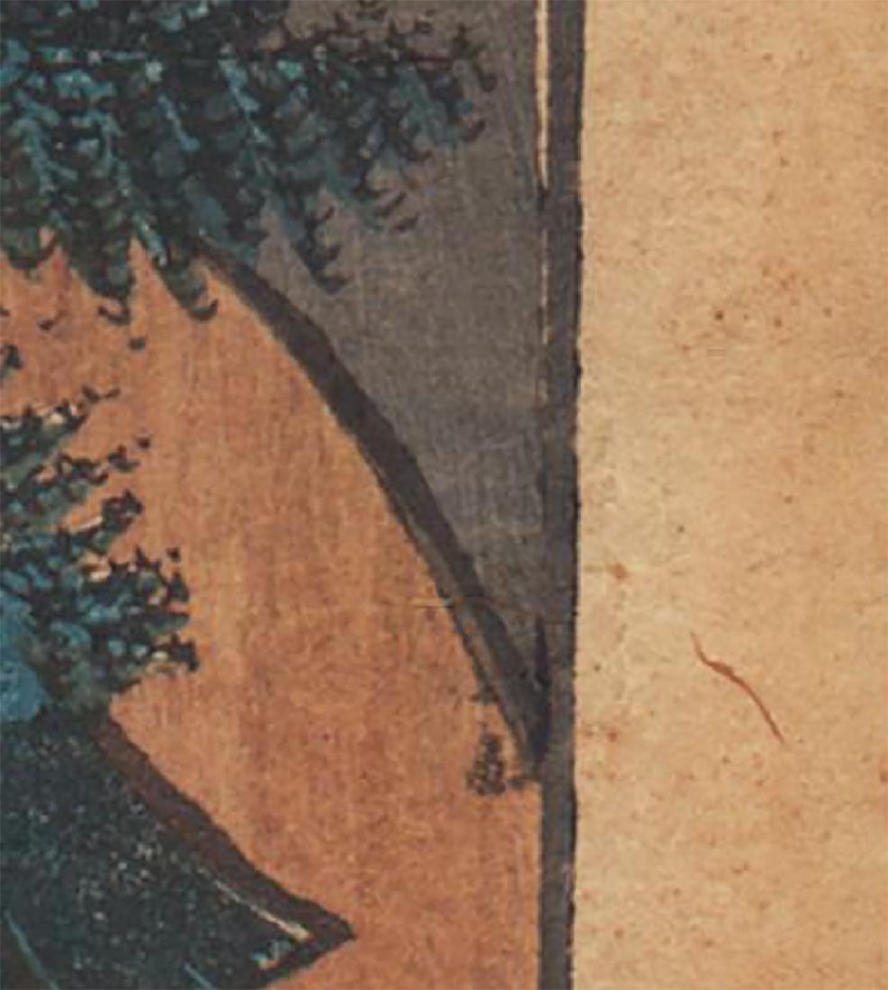 Ando Hiroshige Woodblock Mount Atago - 4
