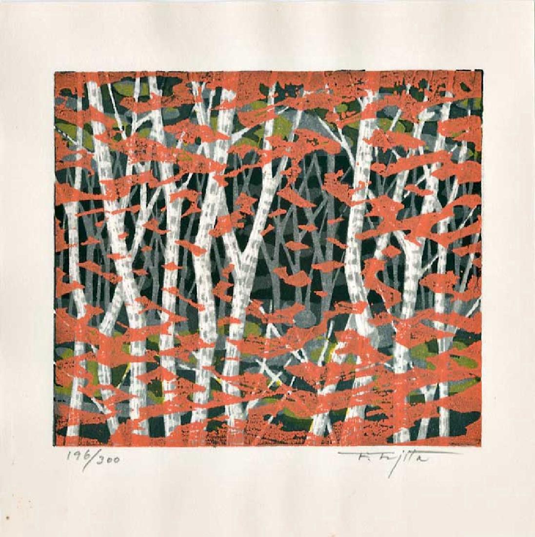 Fumio Fujita First Edition Woodblock Autumn