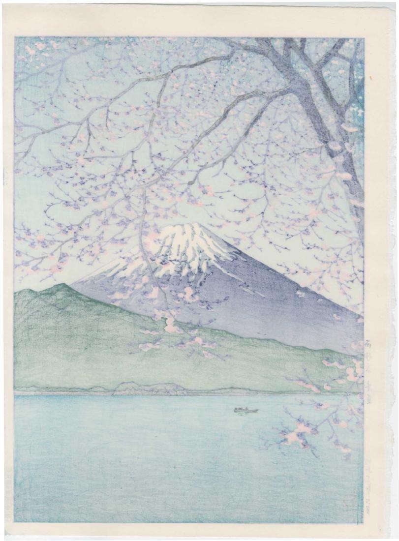 Hasui Kawase Woodblock Mt. Fuji from Kishio - 2