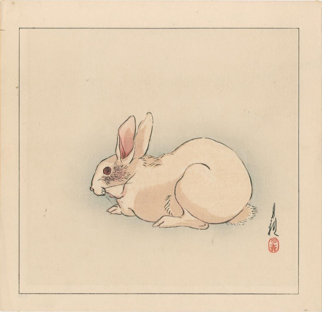 Ogata Gekko Woodblock White Rabbit