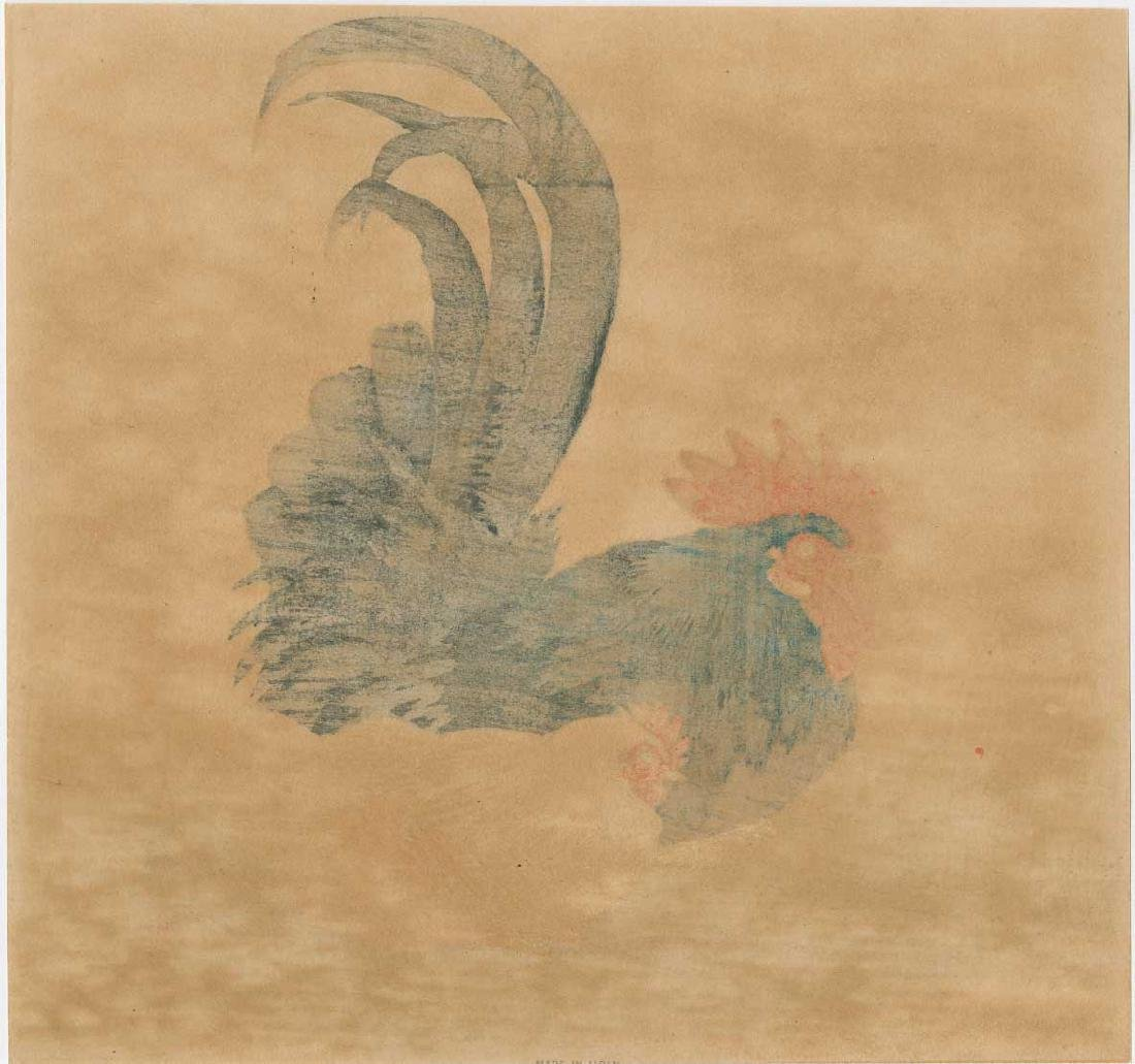 Ohara Koson Woodblock Rooster and Hen - 2