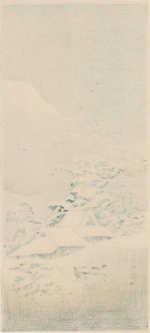 Shotei Takahashi (Hiroaki) Woodblock Sawatari Joshu - 2