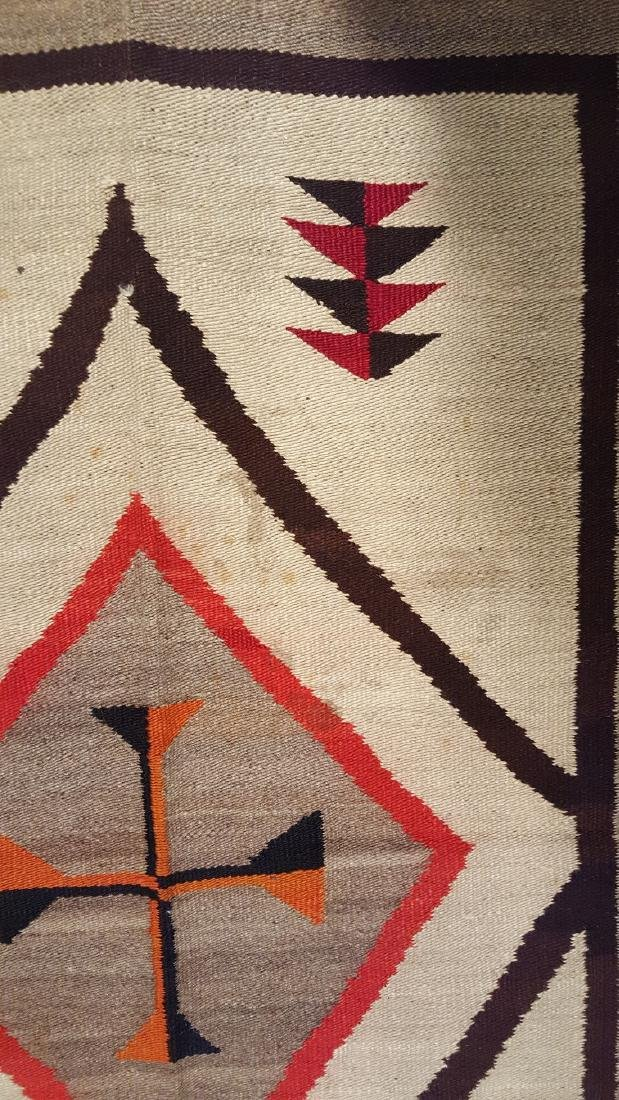 Vintage Navajo Regional Rug Central Cross Circa 1930 - 2