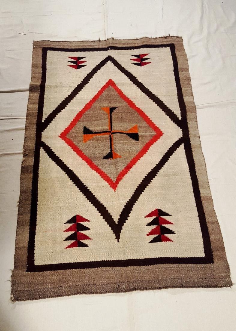 Vintage Navajo Regional Rug Central Cross Circa 1930 - 5