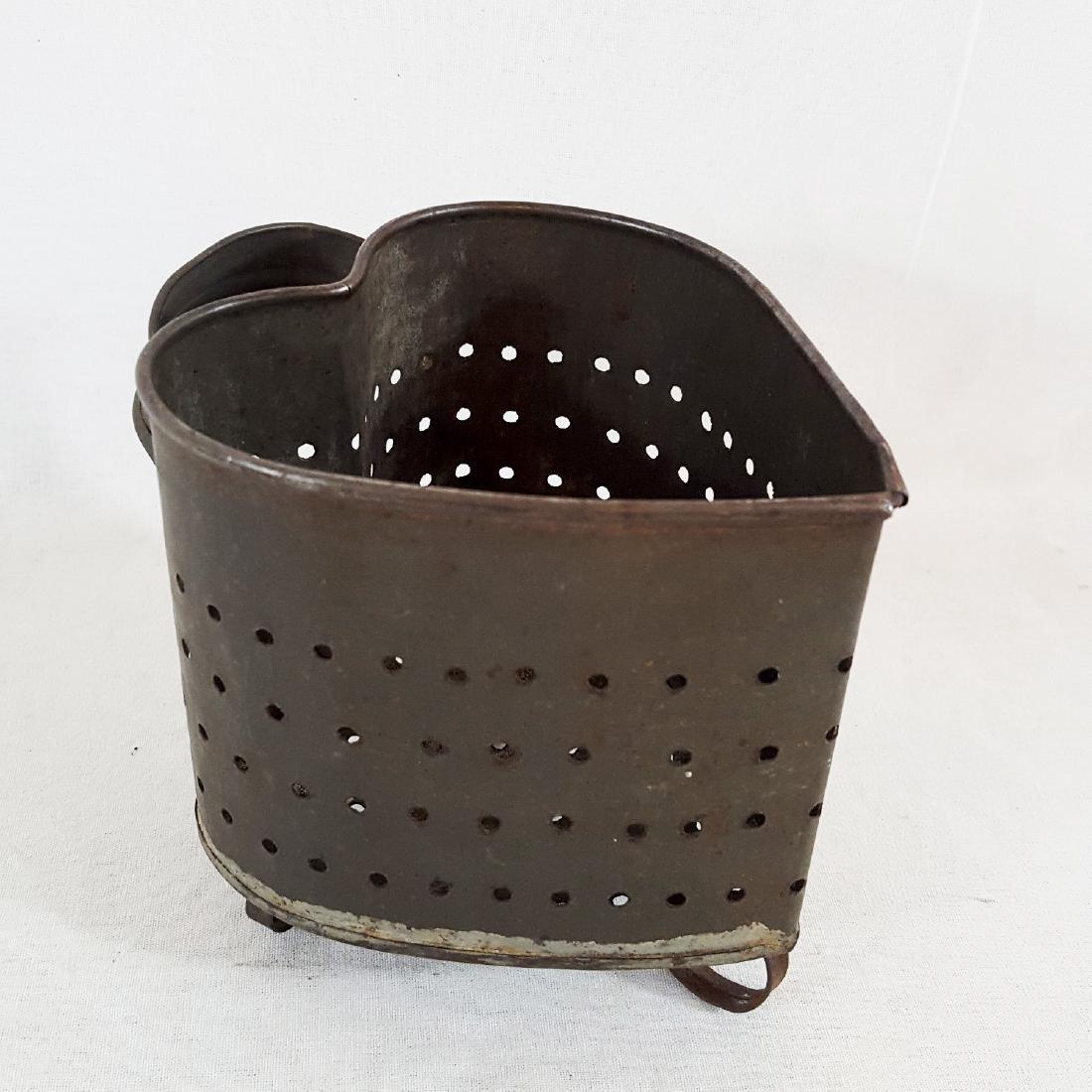 Antique Pennsylvania Punched Tin Chese Mold Circa 1880