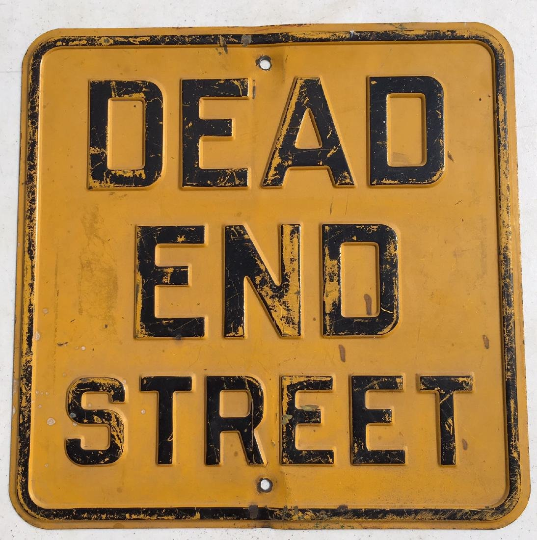 Dead End Street Sign 1940