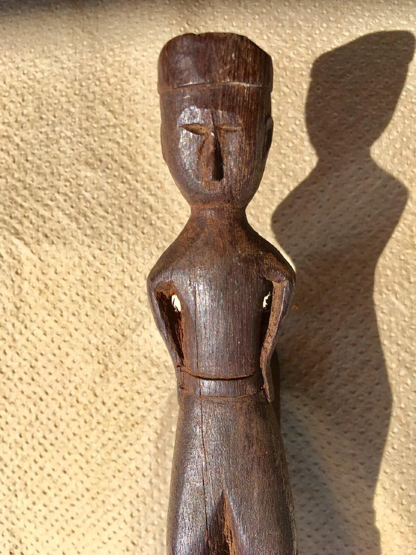 Cane Hand Carved Early 20th Century