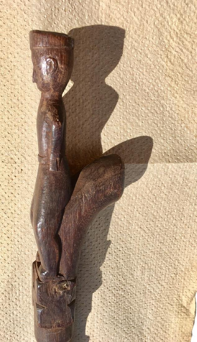 Cane Hand Carved Early 20th Century - 4