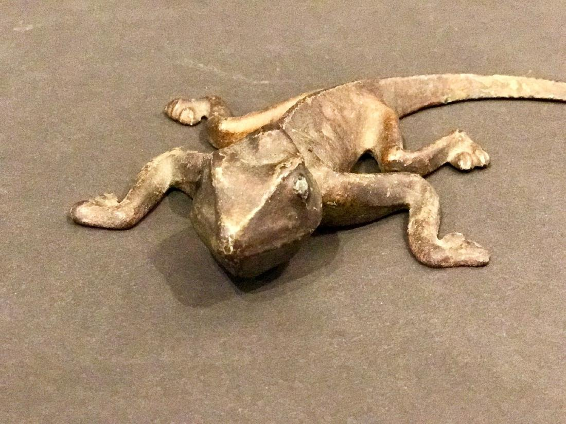 Antique Sherwin Williams Iron Lizard Mascot, Circa 1900 - 2