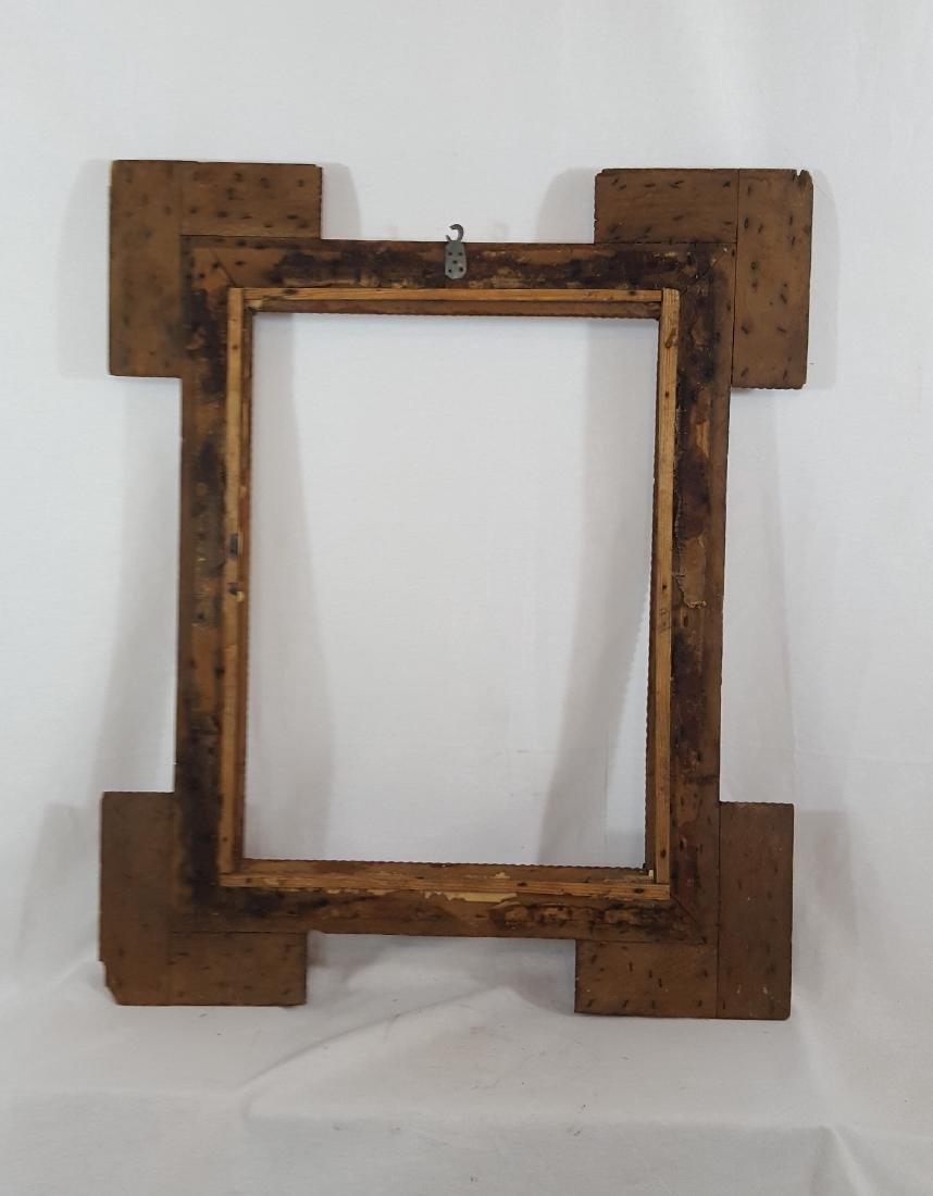 Antique Tramp Art Frame Corner Blocks Circa 1890 - 5