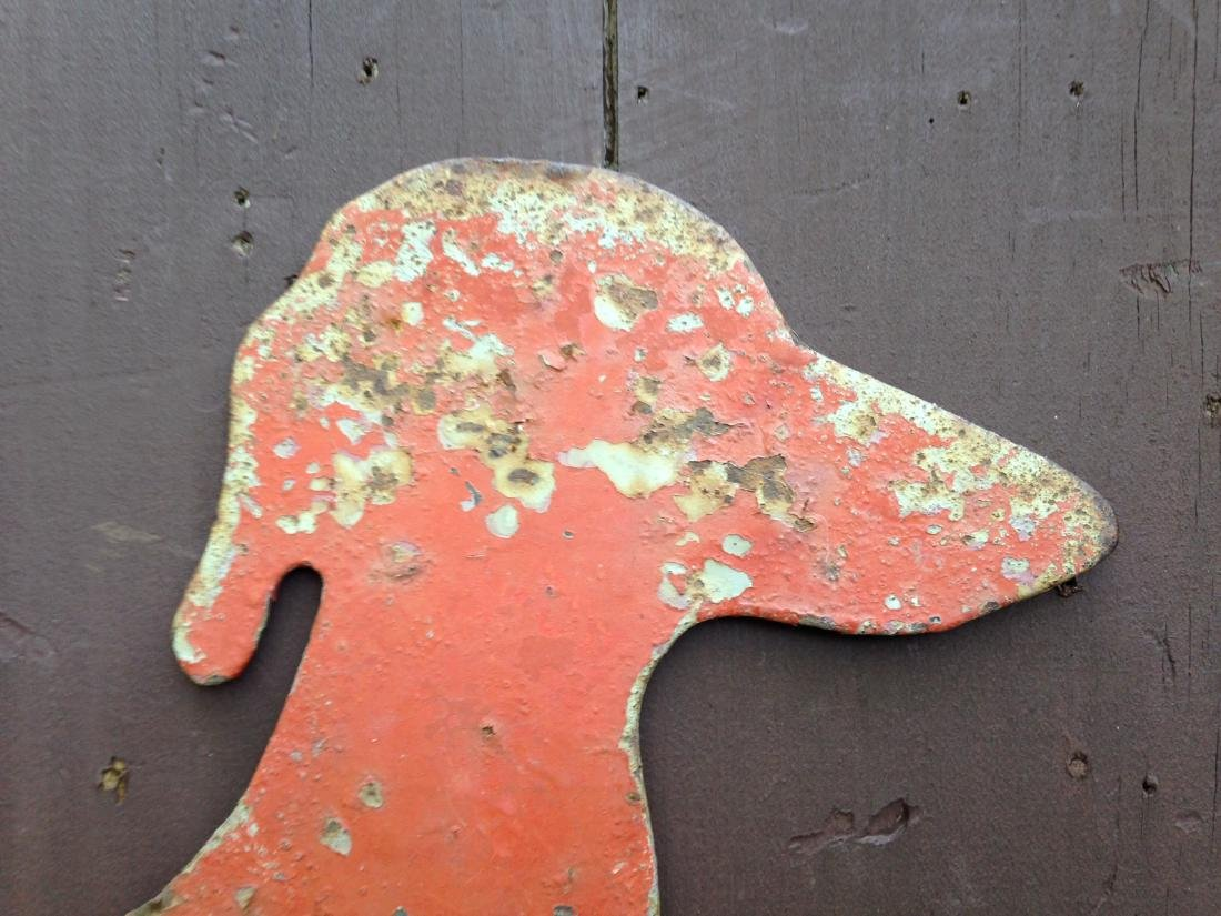 Vintage Sheet Iron Dachshund Boot Scrapper 20th Century - 3