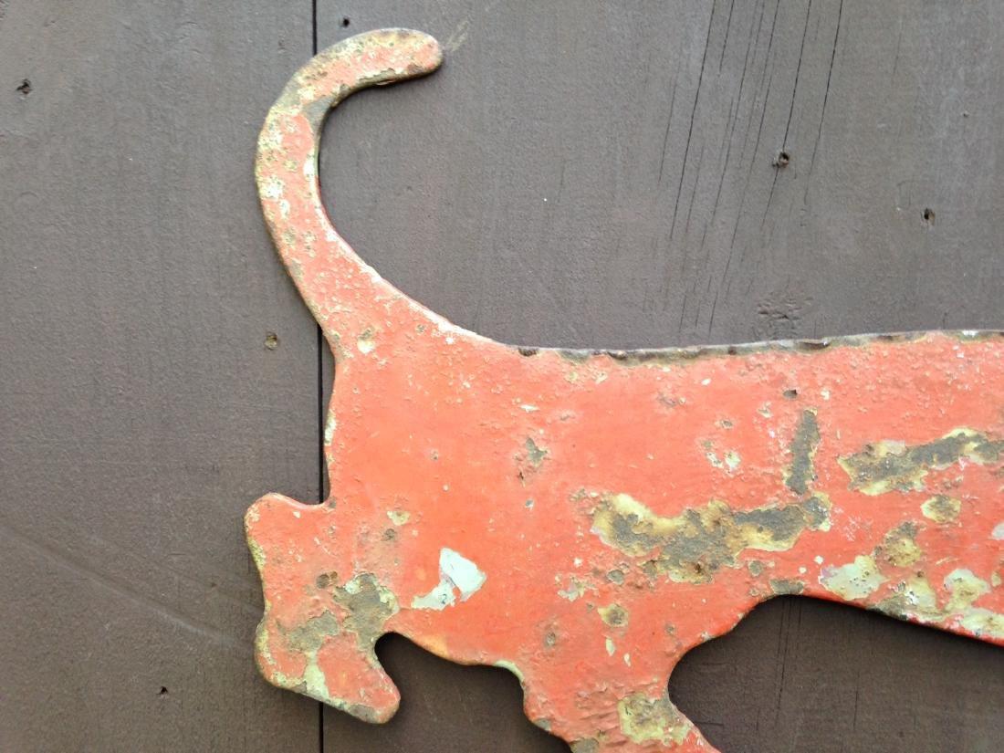 Vintage Sheet Iron Dachshund Boot Scrapper 20th Century - 5