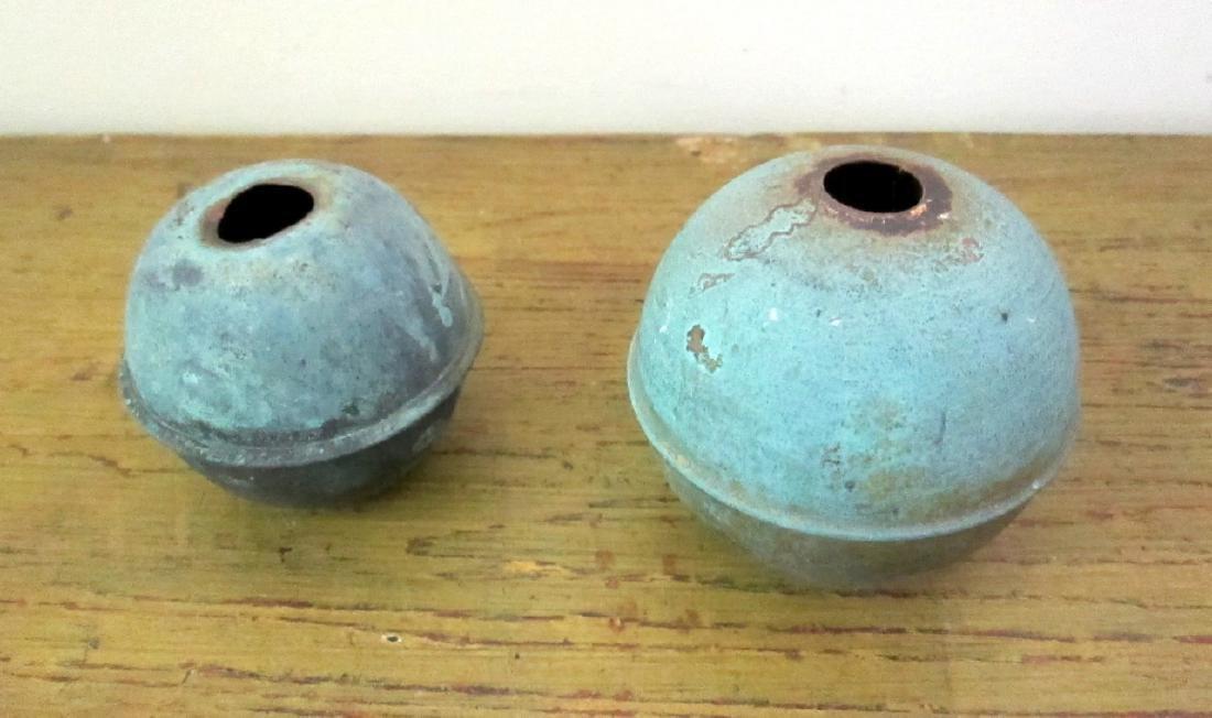 Vintage Weathervane Copper Balls Mid 20th Century