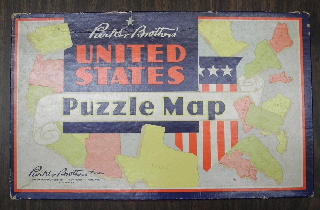 Parker Brothers' United States Puzzle Map