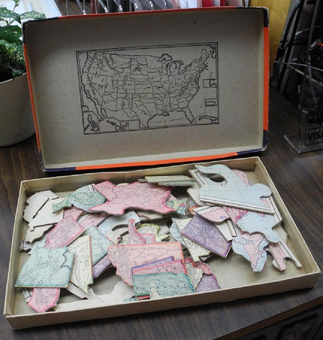 Parker Brothers' United States Puzzle Map - 3
