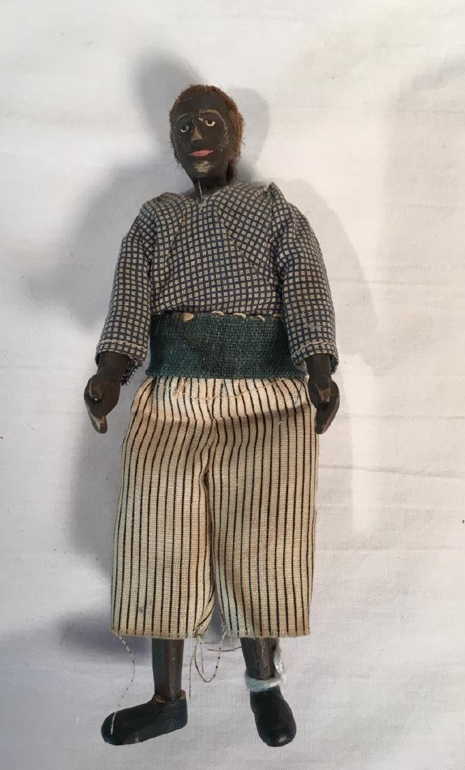Finely Carved and Painted African American Doll