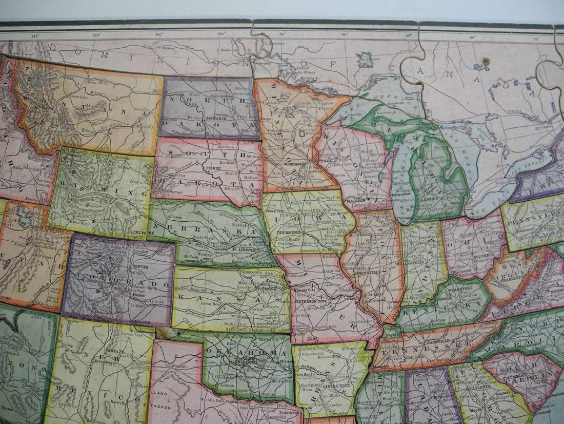 United States Jigsaw Puzzle Parker Brothers Inc. - 4