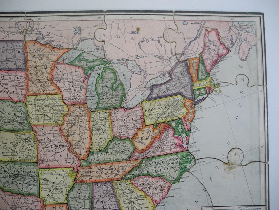 United States Jigsaw Puzzle Parker Brothers Inc. - 5