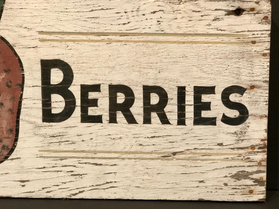 Vintage Berries Sign, Circa 1940 - 2
