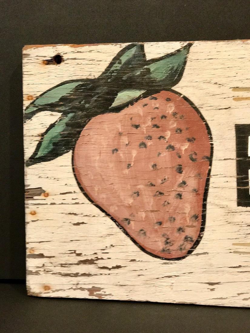Vintage Berries Sign, Circa 1940 - 3