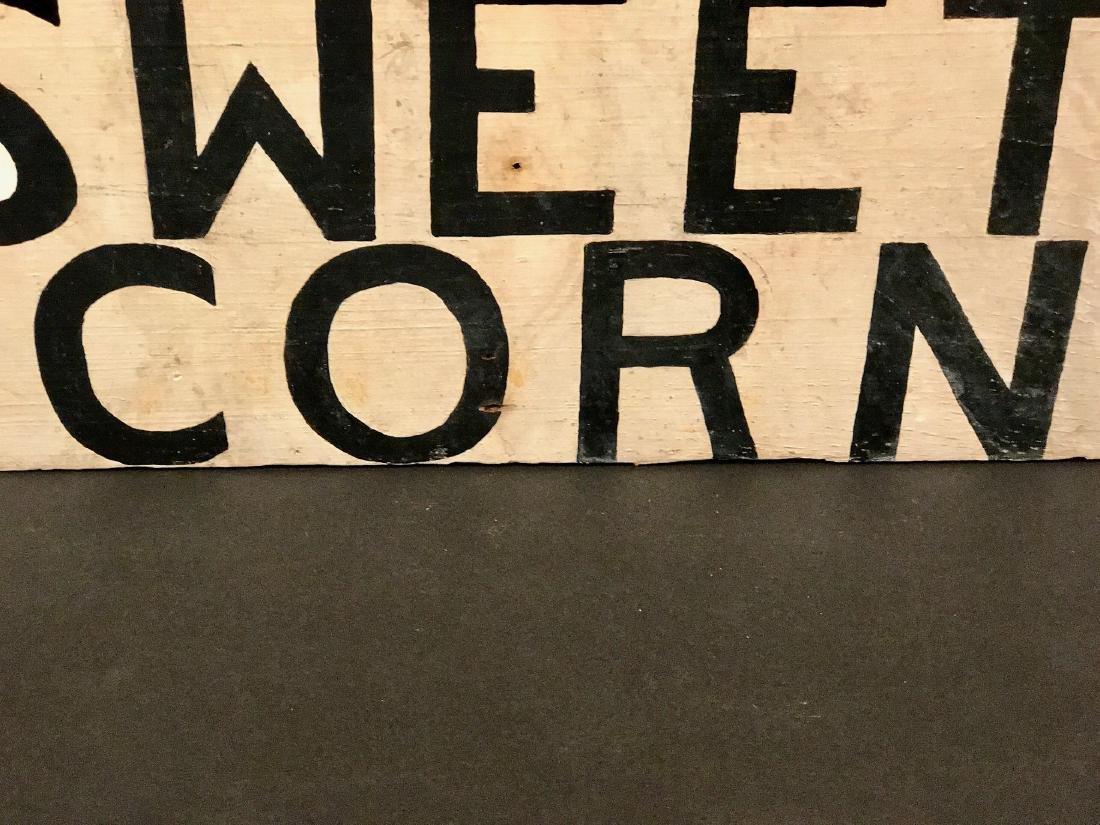 Vintage Fresh Sweet Corn Sign, Circa 1930 - 3