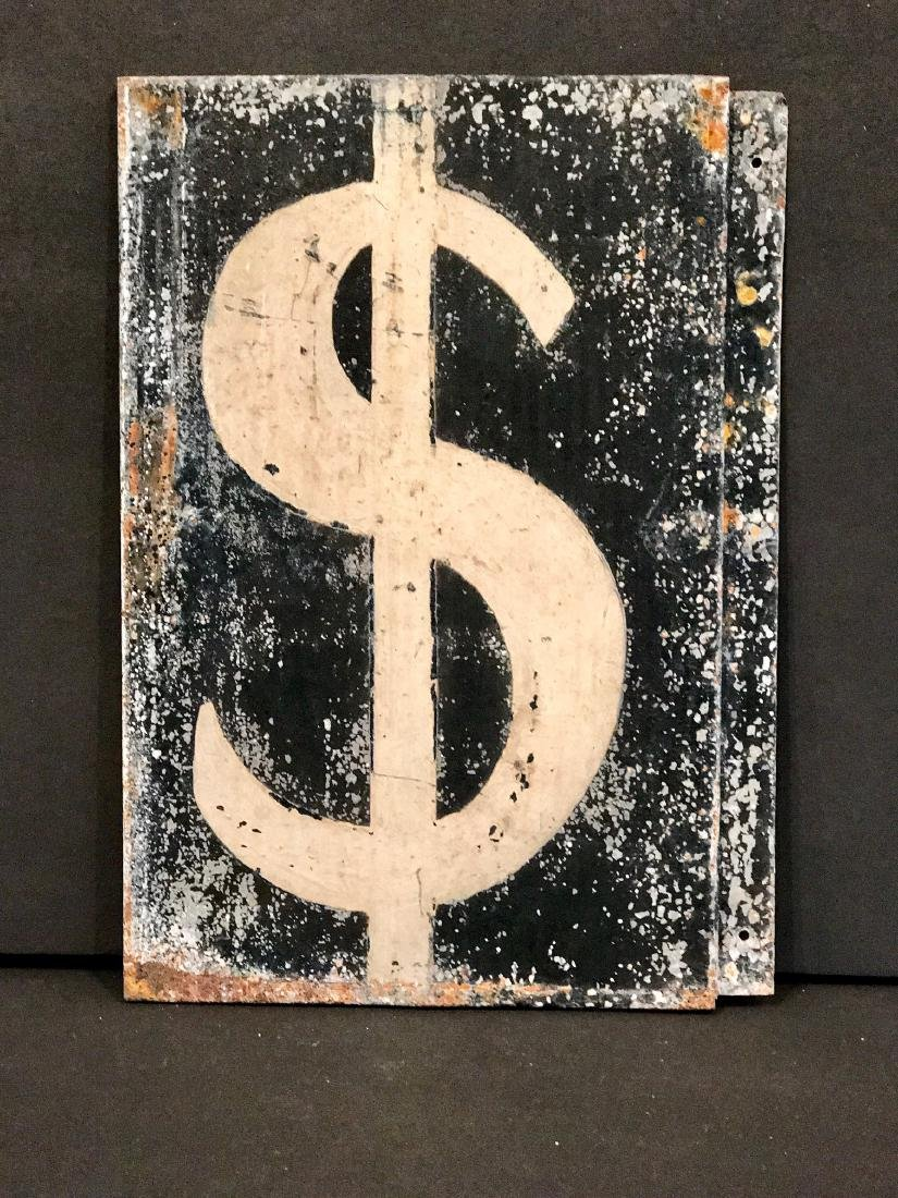 Vintage Gas Pump Dollar Sign, Circa 1930