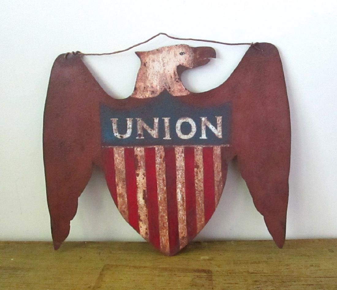 Early Patriotic Eagle Sign Late 19th Century