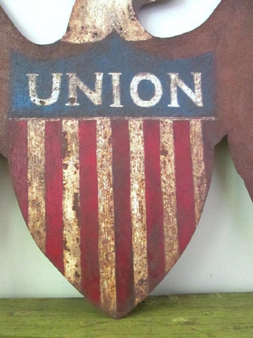 Early Patriotic Eagle Sign Late 19th Century - 4